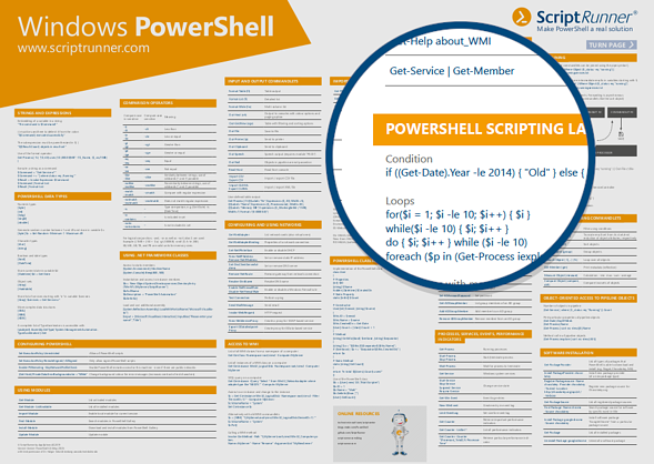 Detailansicht des PowerShell-Posters frontal